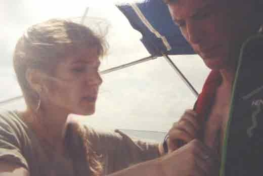 "ALT =[""Dr. Jolie Bookspan: Dr. Bookspan checks actor Christopher Reeve's heart and vital signs after his scuba dives. This was before his horse riding accident""]"